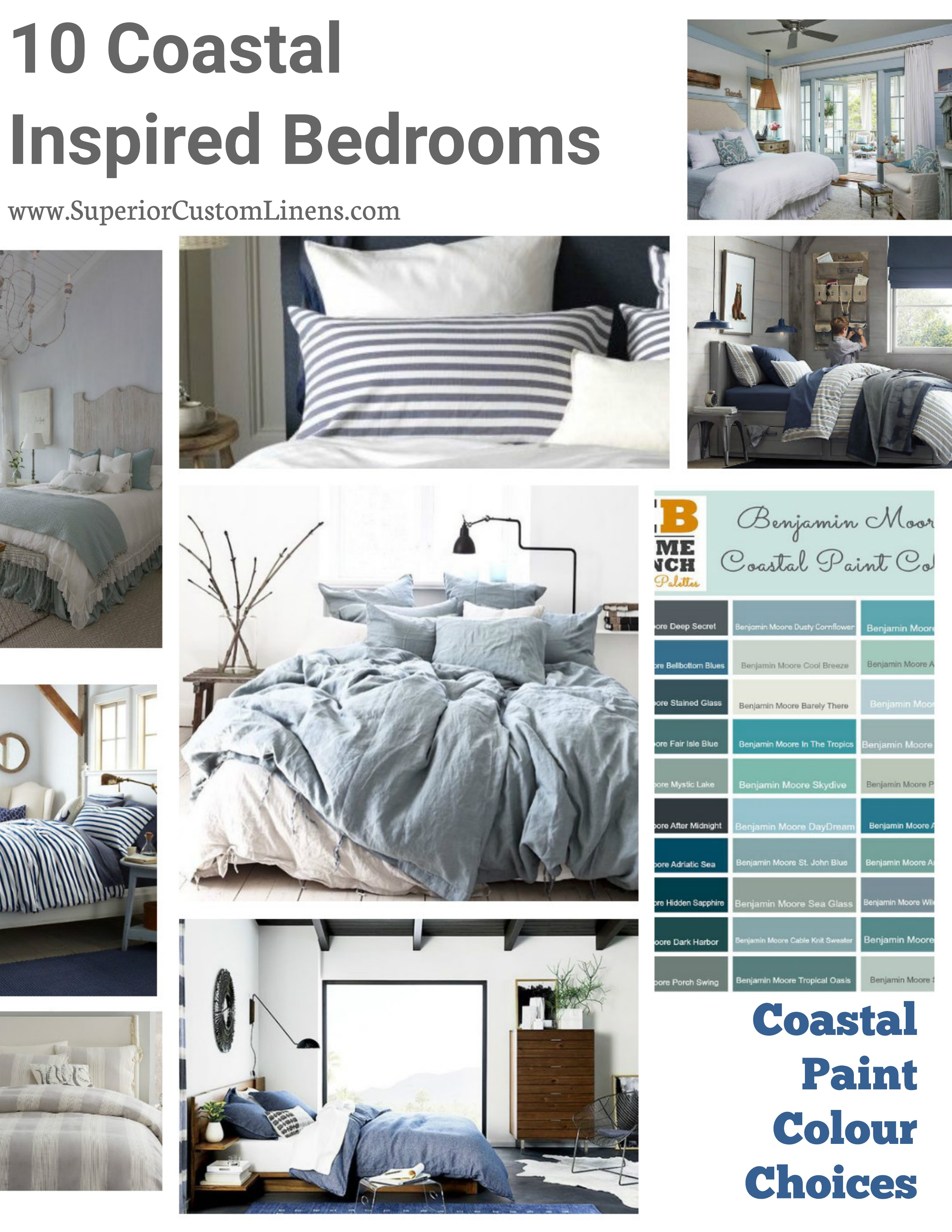 High Quality 10 Coastal Inspired Bedrooms With Coastal Paint Colour Choices