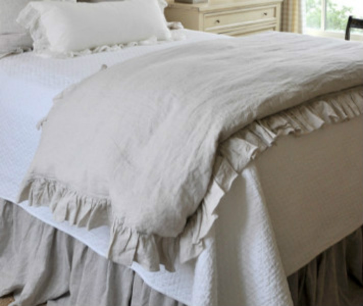 Linen Ruffle Duvet Cover