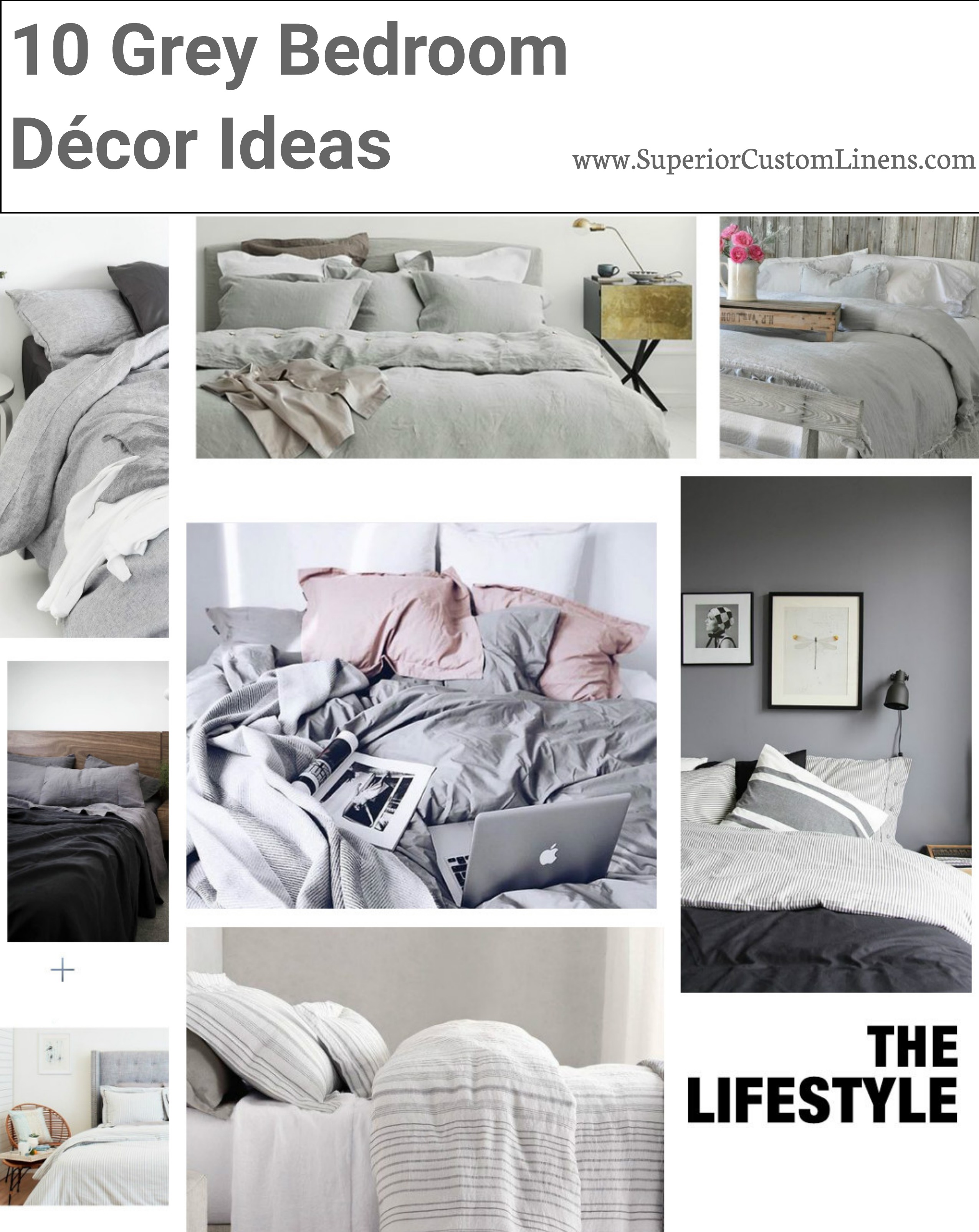 Grey Bedroom Decor Superior Custom Linens