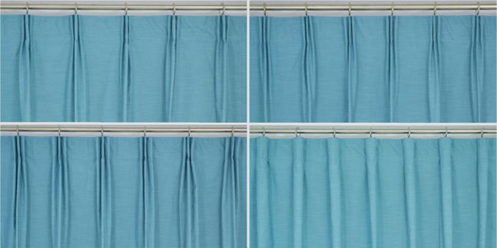 versatile pleated curtain hanging style